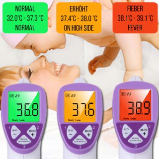 Digitales Infrarot Thermometer Baby Kind Stirn Thermometer kontaktlos Temperatur Messung FT1