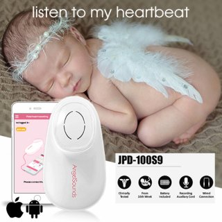 AngelSounds Fetal Doppler Embryo Herztöne Ultraschall Baby Smartphone App iPhone Android FD2